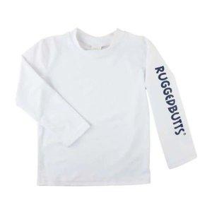 Ruffle Butts White Logo Long Sleeve Rash Guard