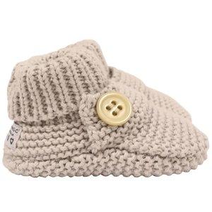 Korango Booties - Essentials Button Knit Shoes - Grey - 0-3M