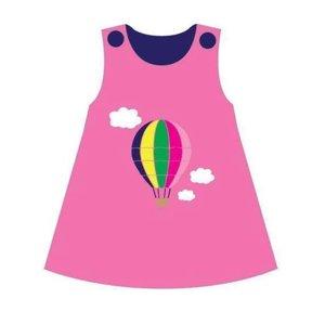 Korango Dress - Hot Air Balloon Cord in Pink