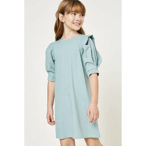 Hayden Pleated Puff Sleeve Mini Dress - G8173 Sage-
