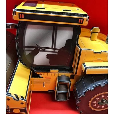 Top Race 3D Puzzle Steam Roller Puzzle - 10 Inches