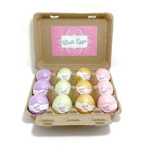 Feeling Smitten Shimmery Egg-shaped Bath Bombs - (Purple)