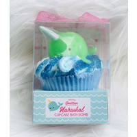Feeling Smitten Large Cupcake Bath Bomb - (Green Narwhal)