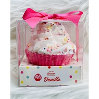Feeling Smitten Large Cupcake Bath Bomb - (Vanilla with Sprinkles)
