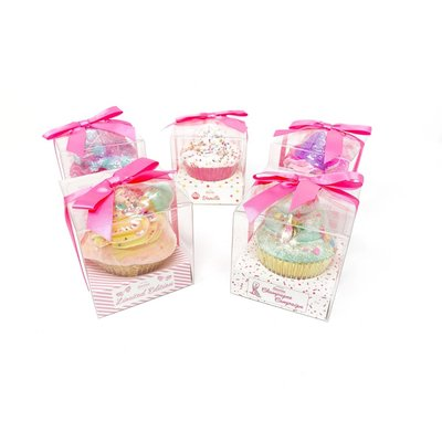 Feeling Smitten Large Cupcake Bath Bomb - (Champagne Bottle)