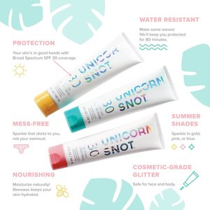 Unicorn Snot Glitter Sunscreen (SPF 30)