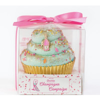 Feeling Smitten Large Cupcake Bath Bomb - (Champagne Bottle)