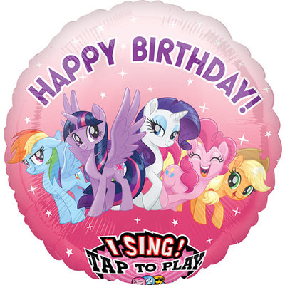 Balloons.com 28 inch - Foil Balloon - Sing A Tune Birthday - My Little Pony (with helium)