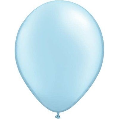 Balloons.com 11 Inch - Latex Balloons - Light Blue Light Pearl (with helium)