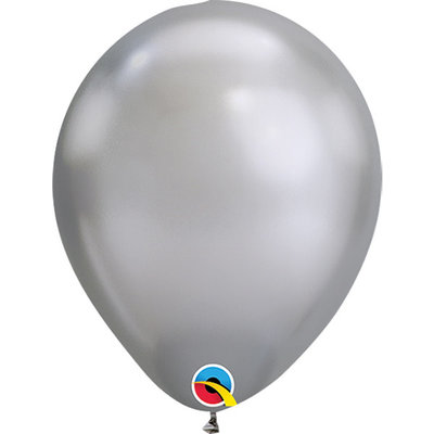 Balloons.com 11 Inch - Latex Balloons - Silver Chrome (with helium)