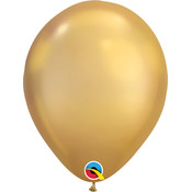 """Balloons.com 11"""" - Latex Balloons - Gold Chrome (with helium)"""