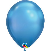 "Balloons.com 11"" - Latex Balloons - Blue Chrome (with helium)"