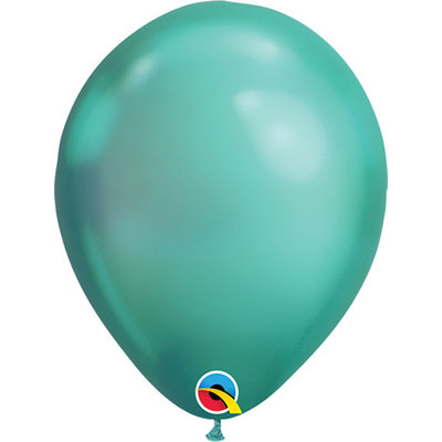 """Balloons.com 11"""" - Latex Balloons - Green Chrome (with helium)"""