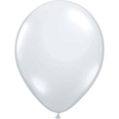"Balloons.com 11"" - Latex Balloons - Diamond Clear (with helium)"