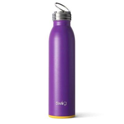 Swig 20 oz - Bottle - Matte Purple/Yellow