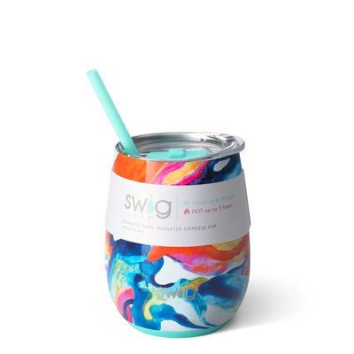 Swig 14 oz Stemless Wine Cup - Color Swirl