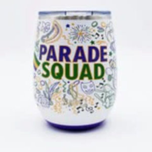 Swig 14 oz - Stemless Wine Cup - Mardi Gras Party Squad