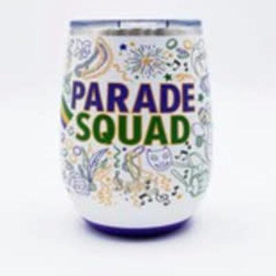 Swig 14 oz - Stemless Wine Cup - Mardi Gras Party Squad