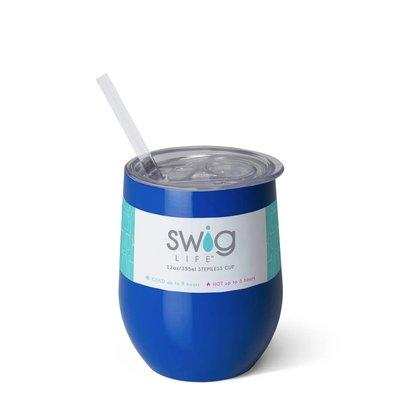 Swig 12 oz - Stemless Wine Cup - Royal Blue