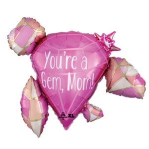 Balloons.com 30 inch - Foil Balloon - Mother's Day - You're a Gem Mom! (with helium) (Item No. 39209)