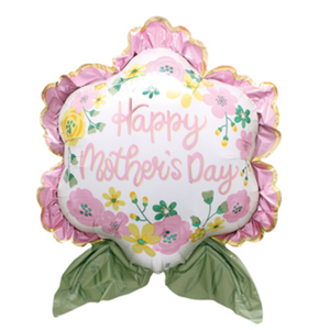 Balloons.com 30 inch - Foil Balloon - Mother's Day - Flower Balloon (with helium) (Item No. 39205)