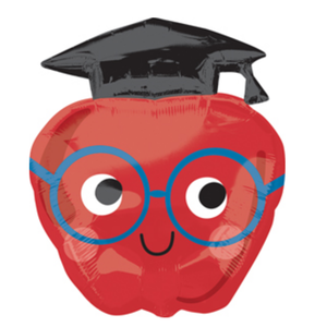 Balloons.com 28 inch - Foil Balloon - Graduation - Future Dreams Apple (with helium)