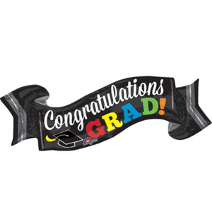 Balloons.com 40 inch - Congratulations Grad Banner Balloon (with helium) (Item No. 32415)