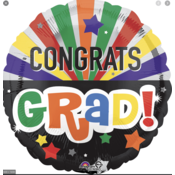 Balloons.com 28 Inch - Foil Balloon - Congrats Grad! Celebration (with helium) (Item No. 34980)