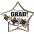 Balloons.com 27 Inch - Foil Balloon - Hats and Scrolls Congrats Grad (with helium) (Item No. 34939)