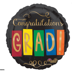 Balloons.com 28 Inch - Foil Balloon - Congratulations Grad (with helium) (Item No. 32482)
