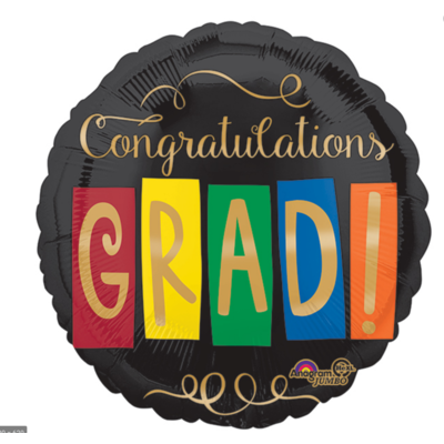 Balloons.com 28 Inch - Foil Balloon - Congratulations Grad (with helium) (Item No. 32482)