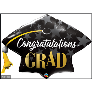 Balloons.com 41 Inch - Congratulations Grad Cap Balloon (with helium) (Item No. 82653)