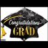 Balloons.com 41 Inch - Congratulations Grad Cap Balloon (with helium) (Item No. 82653)