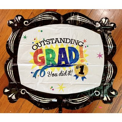 Balloons.com 35 Inch- Outstanding Grad Balloon (with helium) (Item No. 30261)