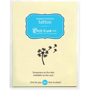 "Conscious Ink ""Dandelion"" Manifestation Tattoo 2-Pack"