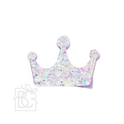 Beyond Creations 2.5 GLITTER CROWN ON PINCH CLIP