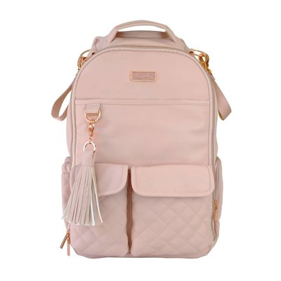 Itsy Ritzy Blush Crush Boss Diaper Bag Backpack -