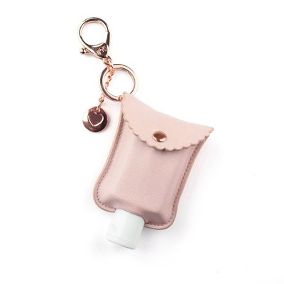 Itsy Ritzy Blush Hand Sanitizer Charm Keychain