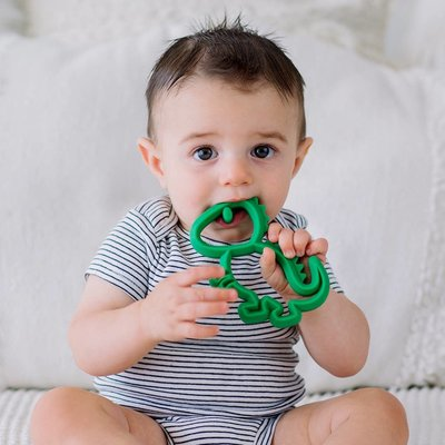 Itsy Ritzy Chew Crew Silicone Baby Teethers - Dino
