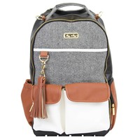 Itsy Ritzy Coffee & Cream Boss Diaper Bag Backpack