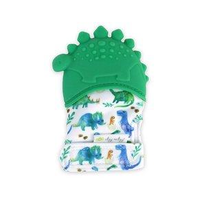 Itsy Ritzy Itzy Mitt™ Teething Mitts - Dinosaur