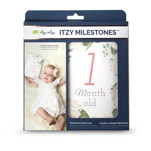 Itsy Ritzy Itzy Moments™ Double-Sided Milestone Cards - Floral