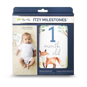 Itsy Ritzy Itzy Moments™ Double-Sided Milestone Cards - Woodland