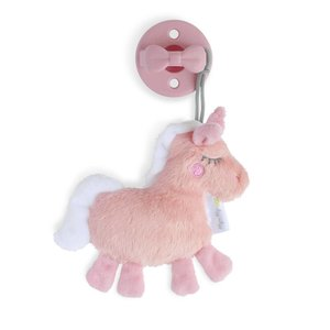 Itsy Ritzy Sweetie Pal Pacifier & Flat Lovey - Unicorn + Pink Bow