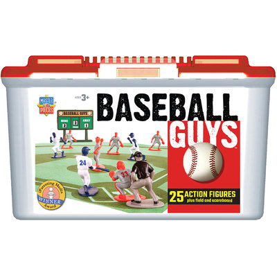 MasterPieces Baseball Guys Sports Action Figures (blue/white vs. red/grey)
