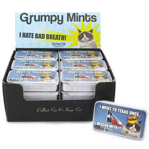 Redstone Foods Grumpy Cat Mints Tin - Went to Texas Once (Sugar Free)