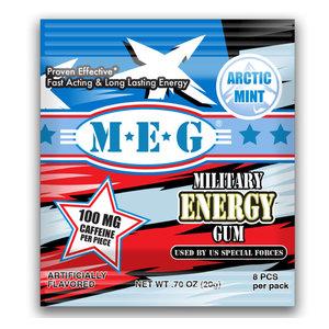 Redstone Foods Military Energy Gum - Arctic Mint W/Caffeine