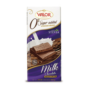 Redstone Foods Valor - NO SUGAR ADDED - Chocolate Bar - Milk