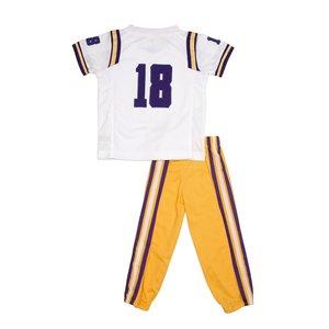 Fast Asleep PJ's LSU Football Uniform/Jersey - 2-Piece Outfit - White