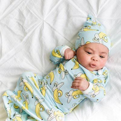 Little Sleepies Bananas Bamboo Viscose Infant Knotted Gown
